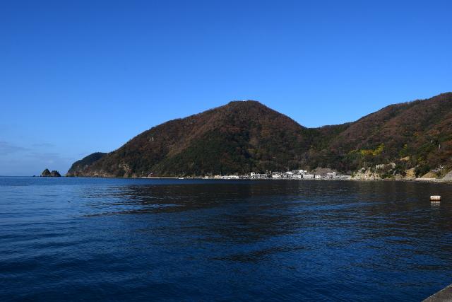 常神漁港からの風景写真