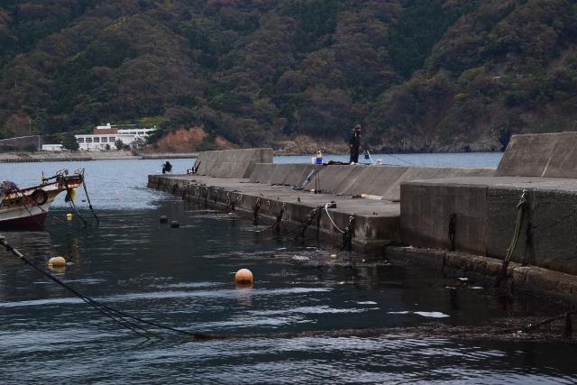 神子漁港突堤の写真