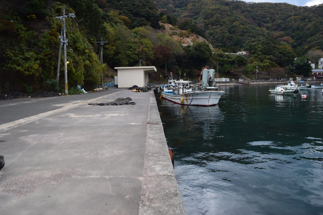 神子漁港内側の写真
