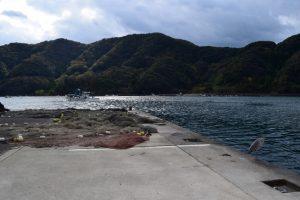 常神漁港の本日の釣り場写真