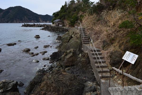 釣姫漁港遊歩道写真