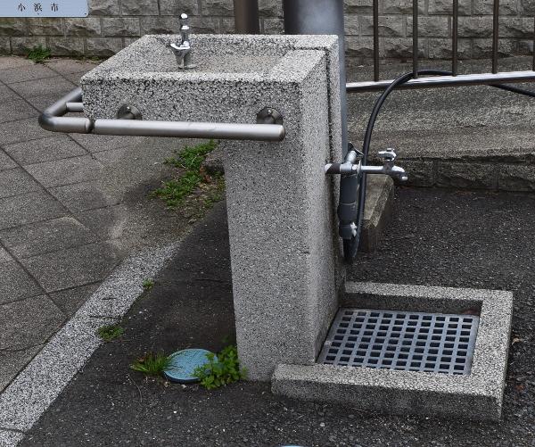 阿納漁港の手洗い場写真