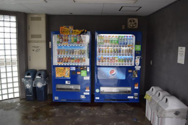 敦賀新港の自動販売機