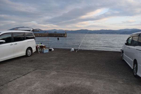 駐車場からの釣り