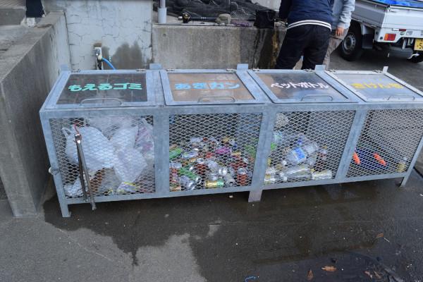 上瀬漁港ゴミ箱