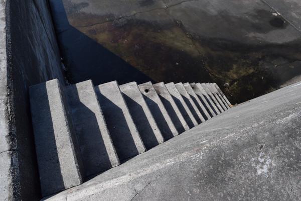 白木漁港階段