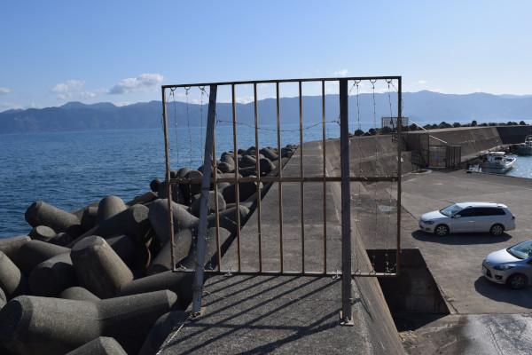 立石漁港フェンス小