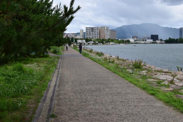 琵琶湖の遊歩道