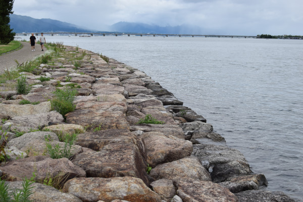 琵琶湖の護岸