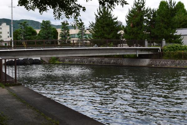 川の流れ込み