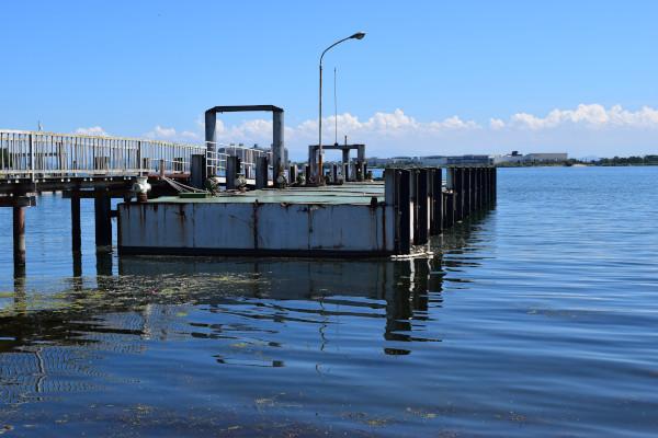 米プラの桟橋