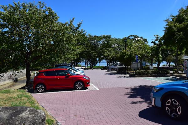 坂本城跡公園の駐車場