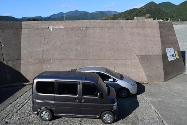木本港堤防の高さ