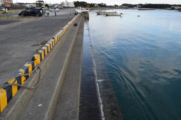 畔蛸漁港階段