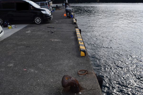 三木浦漁港駐車場の釣りポイント