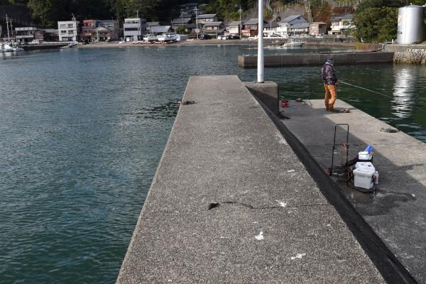 尾鷲港天満浦内側の堤防先端