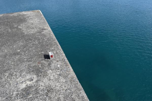 和具漁港堤防先端