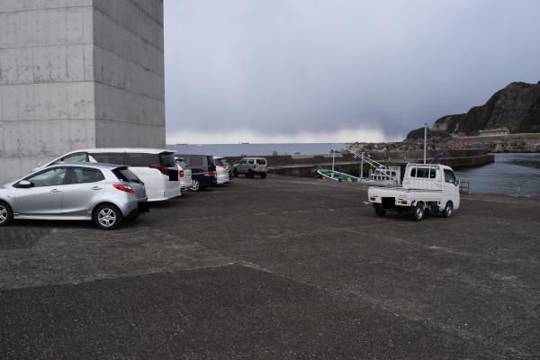 伊古木漁港の駐車スペース