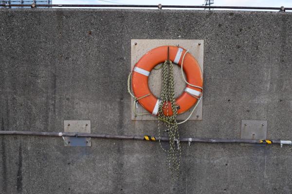 霞埠頭海釣り公園の救助器具