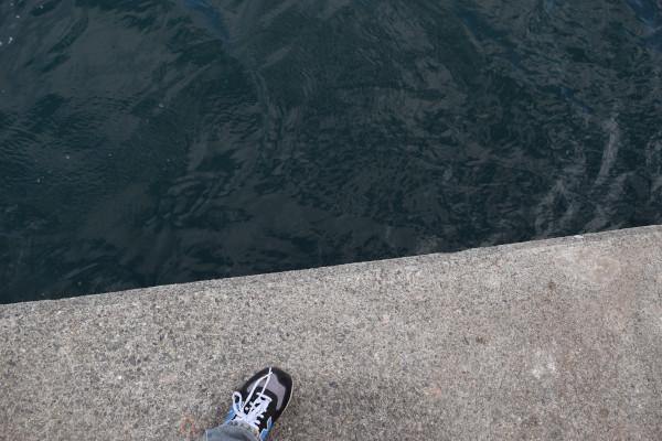 河芸漁港灯台のある堤防先端