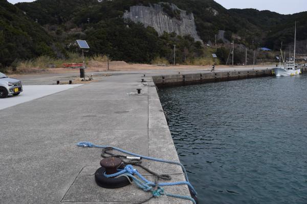 見草漁港の釣り場