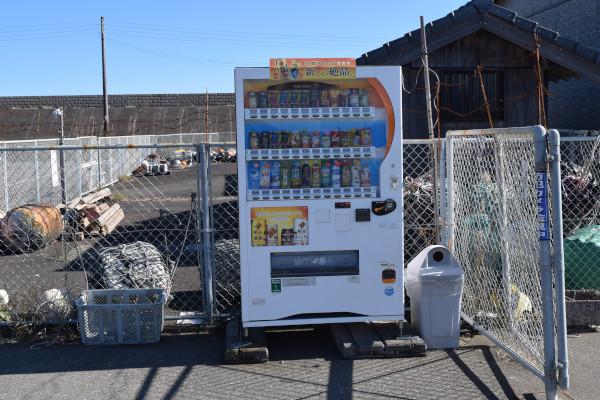 那智漁港の自動販売機