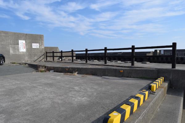 下御糸漁港の立ち入り禁止区域
