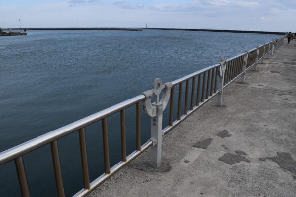 白子港のフェンス