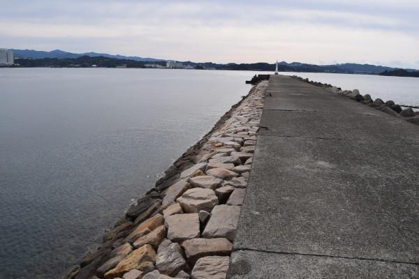 蝦島エリア堤防内側