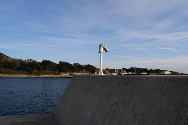 上野漁港内側の堤防先端