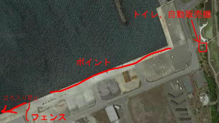 日高港釣りマップ