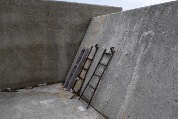祓井戸漁港の梯子