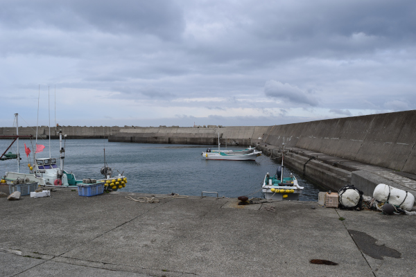 加尾漁港内側の堤防