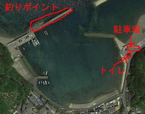 柏漁港の航空写真