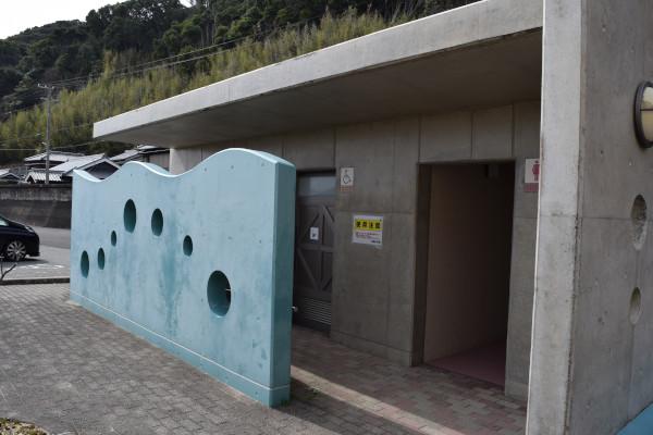 小浦漁港のトイレ