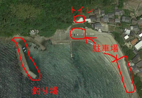産湯漁港の航空写真