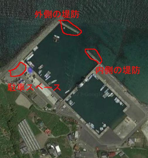 唐尾漁港の航空写真