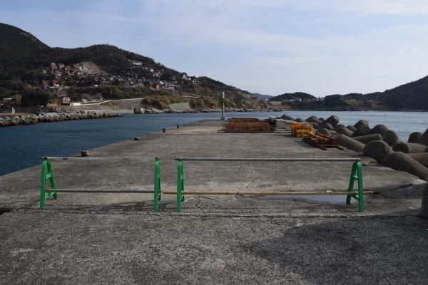 大引漁港先端立ち入り禁止