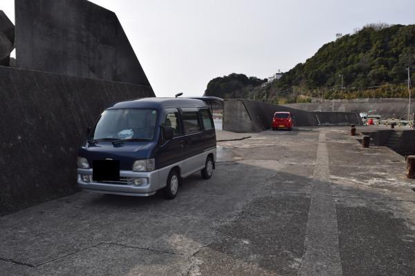 大引漁港車