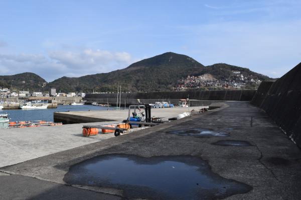 大引漁港付け根の写真