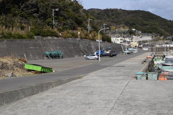 大引漁港の駐車スペース
