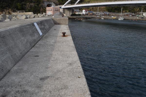 戸津井漁港外側の堤防内側