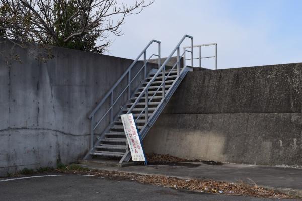 湯浅広港堤防梯子