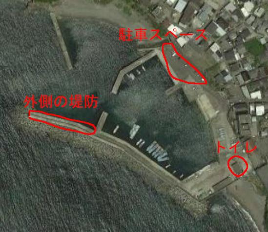 千田漁港の航空写真
