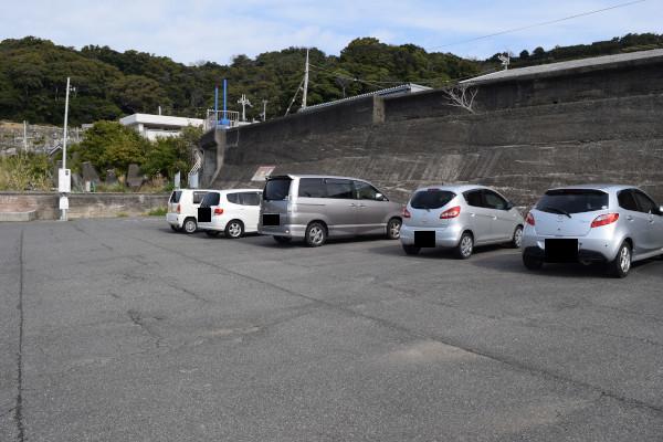 千田漁港の駐車スペース