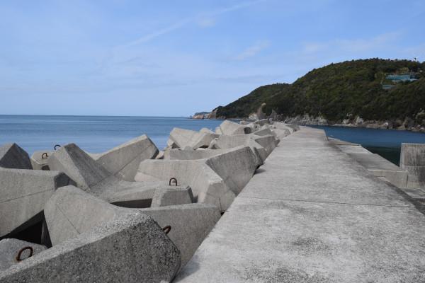 千田漁港堤防の写真