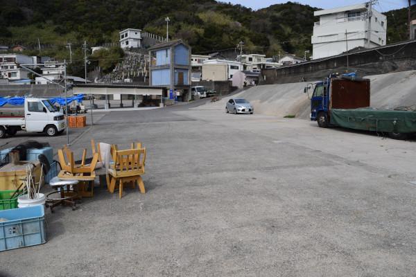 逢井漁港の駐車スペース