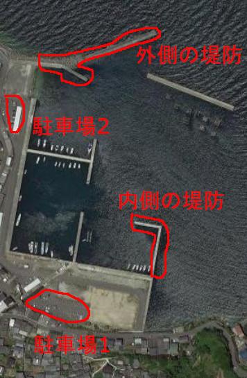 塩津漁港の航空写真