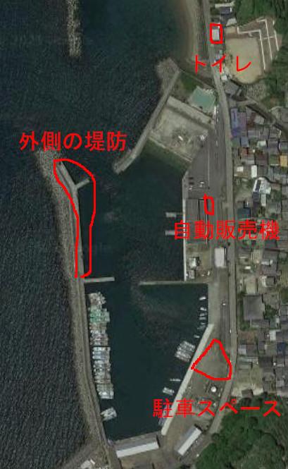 栖原漁港の航空写真