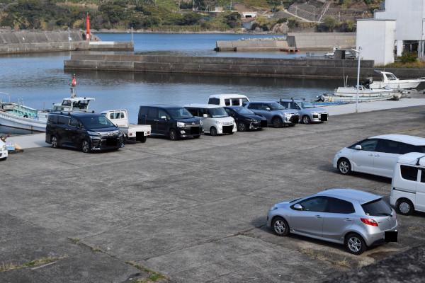 栖原漁港の駐車スペース